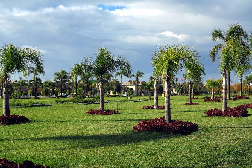 Gartengelände des Königspalasts