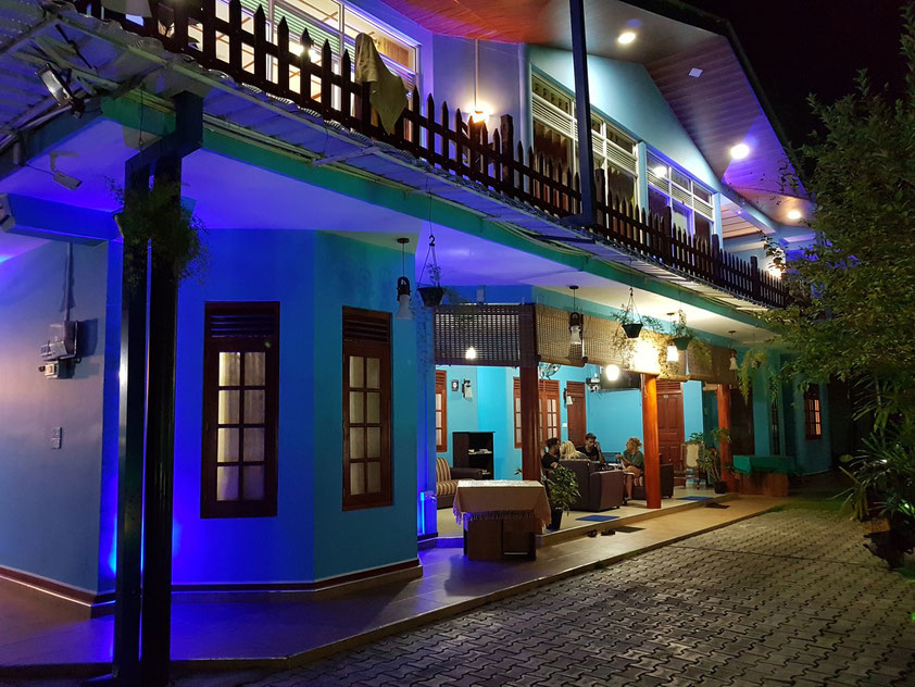 Illumination des Guesthouse New Blue Home in Ella