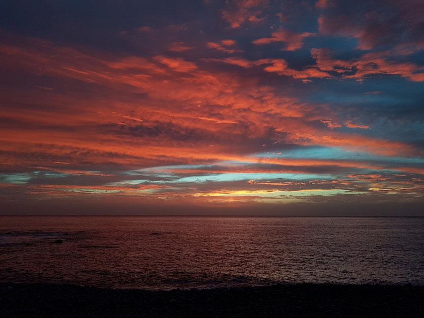 Sonnenuntergang am Strand von Valle Gran Rey