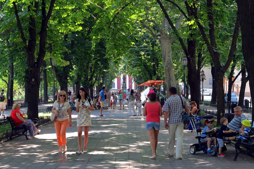 Primorskyj Boulevard in südwestlicher Richtung