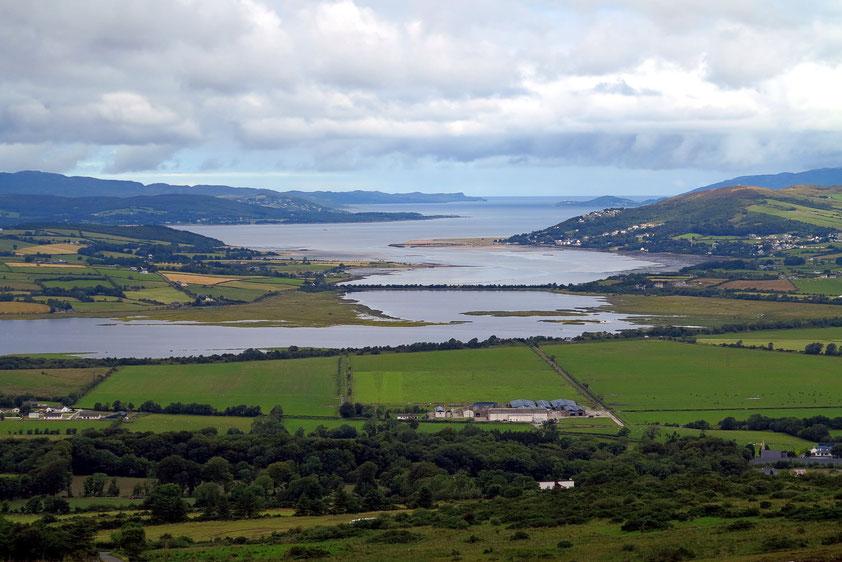 Blick vom Grianan Aileach nach Norden zum Nordatlantik