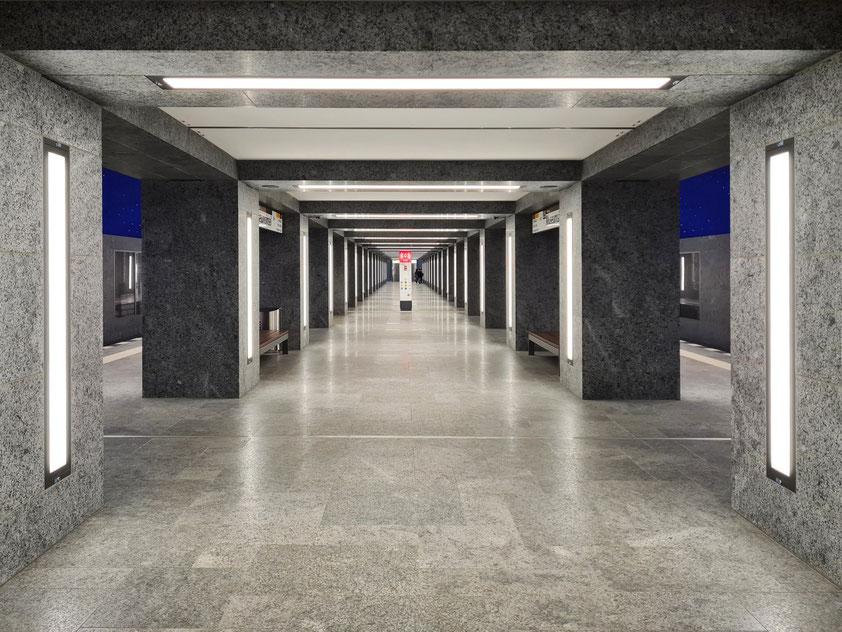U-Bahnhof Museumsinsel (U-Bahn-Linie 5, eröffnet 9. Juli 2021)