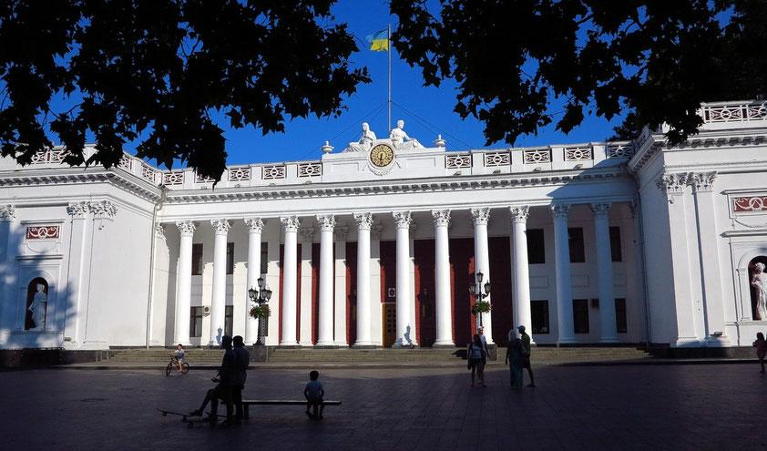 Rathaus von Odessa am südöstlichen Ende des Primorskyj Boulevard