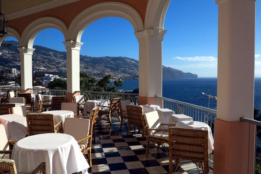 Funchal, auf der Terrasse des Luxushotels Reid's Palace