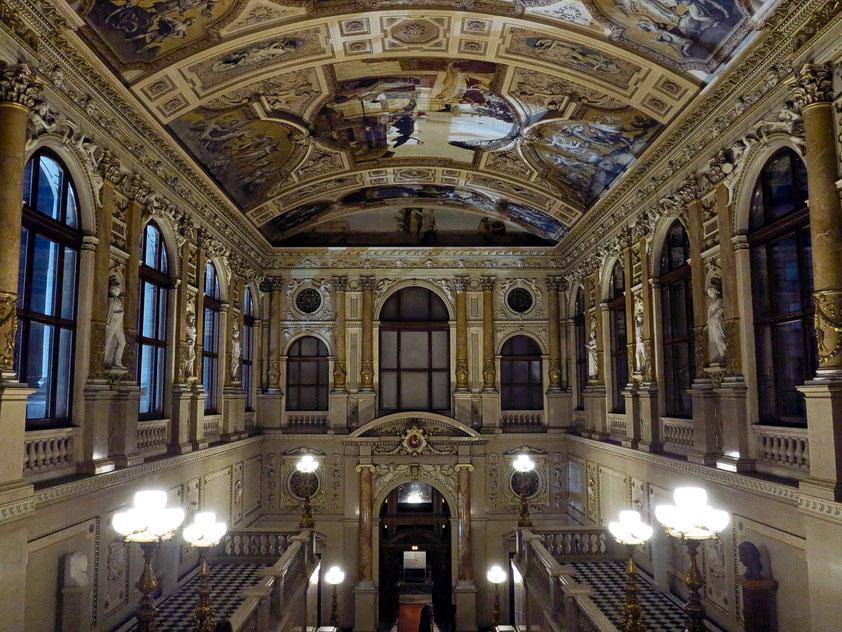 Burgtheater, Kaiserstiege im südlichen Seitenflügel