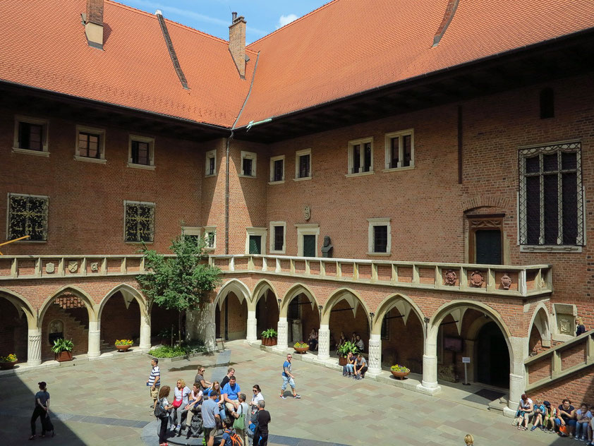 Collegium Maius, das älteste Gebäude der Jagiellonen-Universität in Krakau, heute Universitätsmuseum