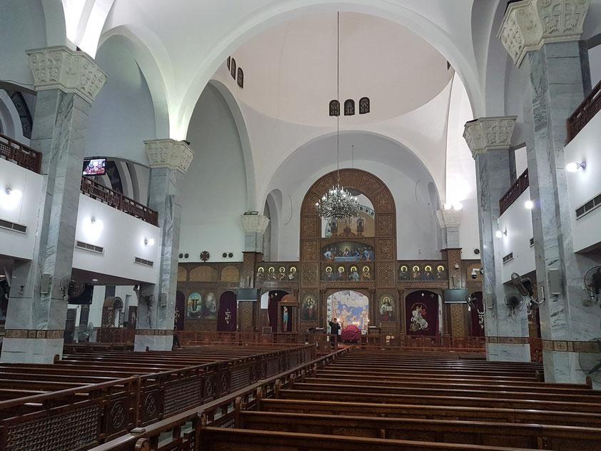 Koptische Kirche St.-Schinuda-Vater-der-Eremiten im Stadtteil Dahar (Altstadt von Hurghada), im Jahre 1922 im britischen Stil erbaut, Neubau nach 2008