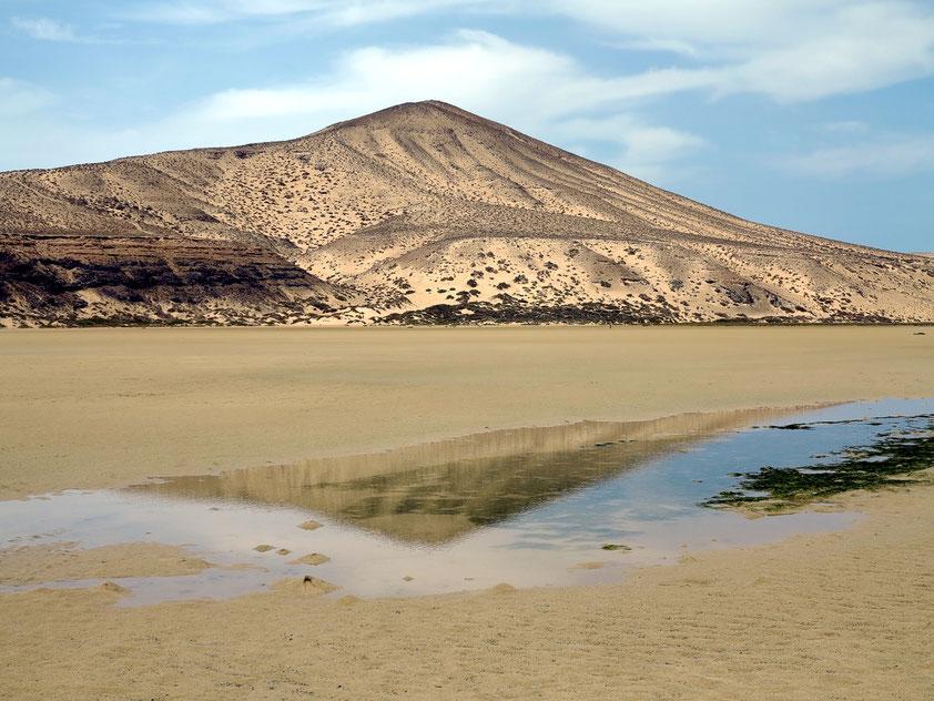 Playa de Sotavento bei Niedrigwasser