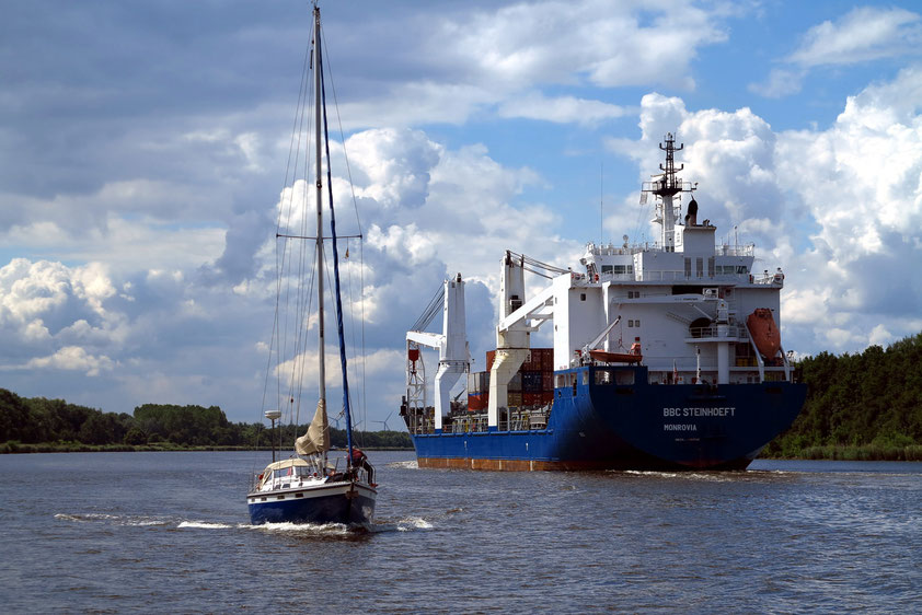 Begegnungen auf dem Nord-Ostsee-Kanal