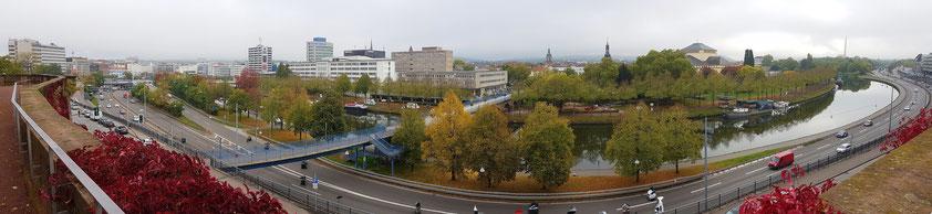 Panoramablick vom Schlossberg auf Saarbrücken an der Saar