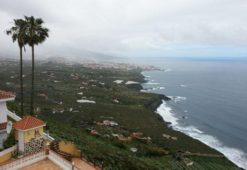 Aussicht vom Café Paraíso nach Puerto de la Cruz
