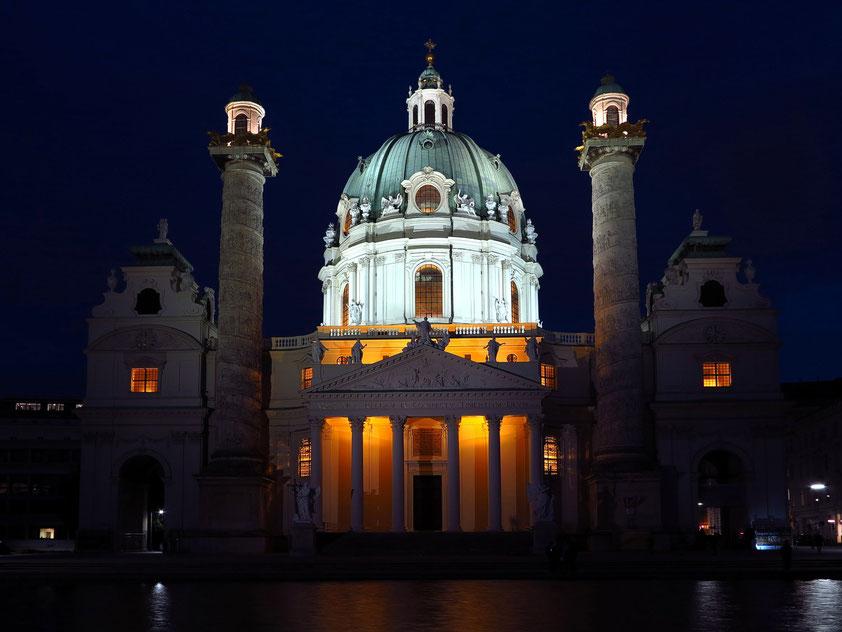Karlskirche, eine römisch-katholische Kirche, erbaut in der 1. Hälfte des 18. Jahrhunderts