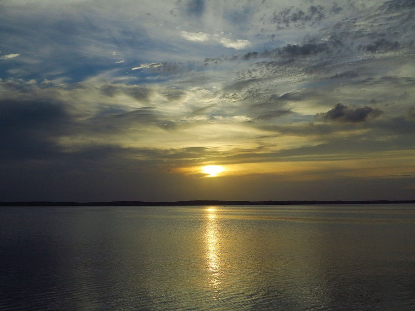 Abendstimmung in Cienfuegos. Blick auf die Bahía de Jagua