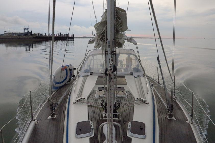Im Wattenmeer morgens nach 7:00 Uhr
