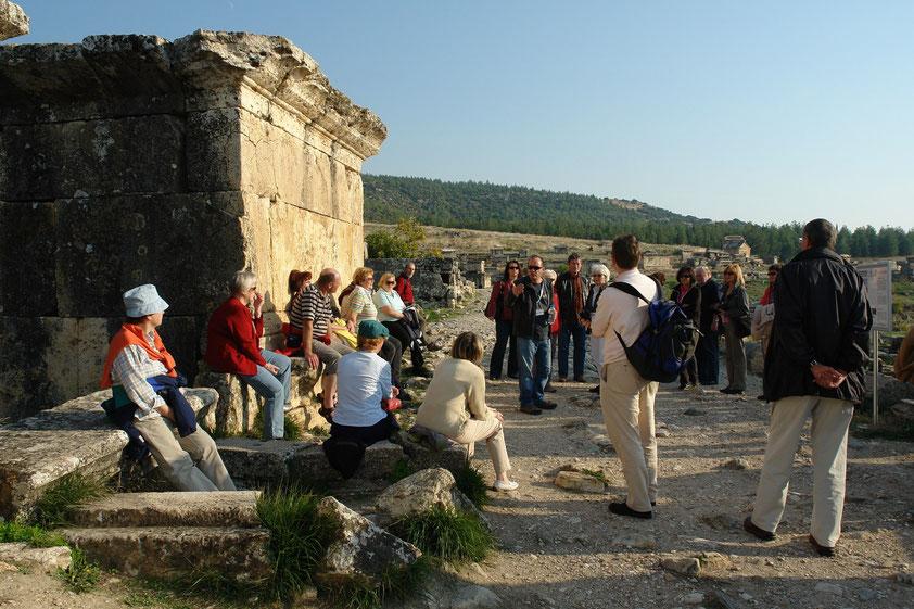 Hierapolis, die Teilnehmer der Studienreise