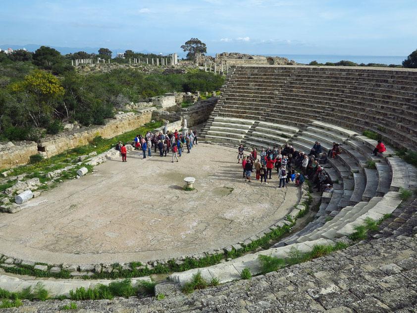 Das Theater in Salamis (aus südlicher Richtung)
