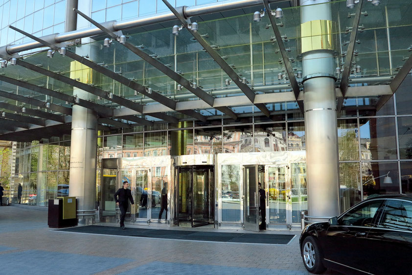 Eingang zum Hyatt Regency Hotel