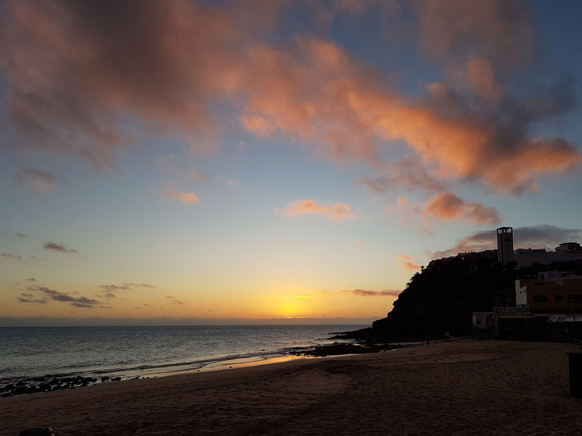 Nach dem Sonnenuntergang am Strand von Morro Jable