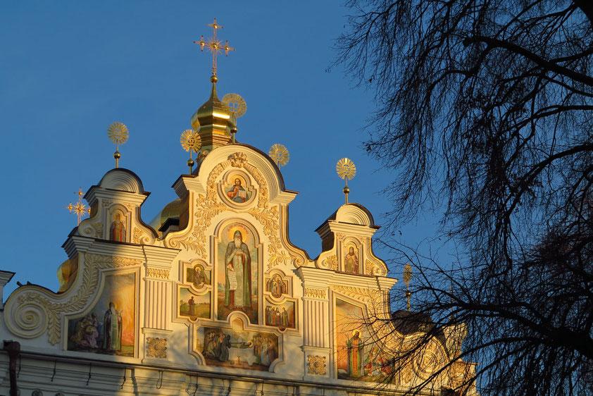 Detail der Mariä-Himmelfahrt-Kathedrale in der Oberen Lawra des Höhlenklosters