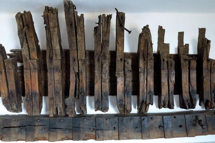 César Manriques Skulptur aus Holzresten eines gesunkenen Schiffes