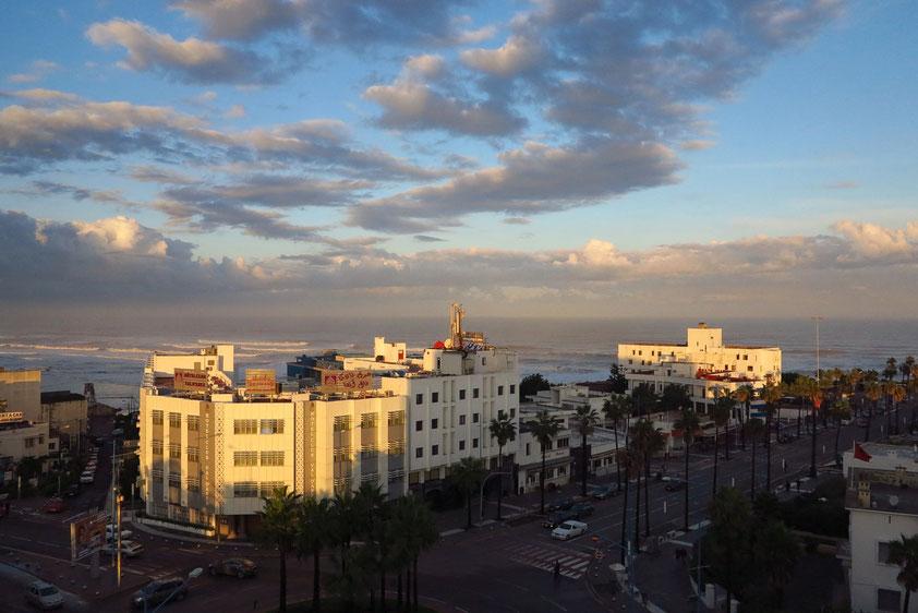 Casablanca. Sonnenaufgang. Blick vom Hotelzimmer