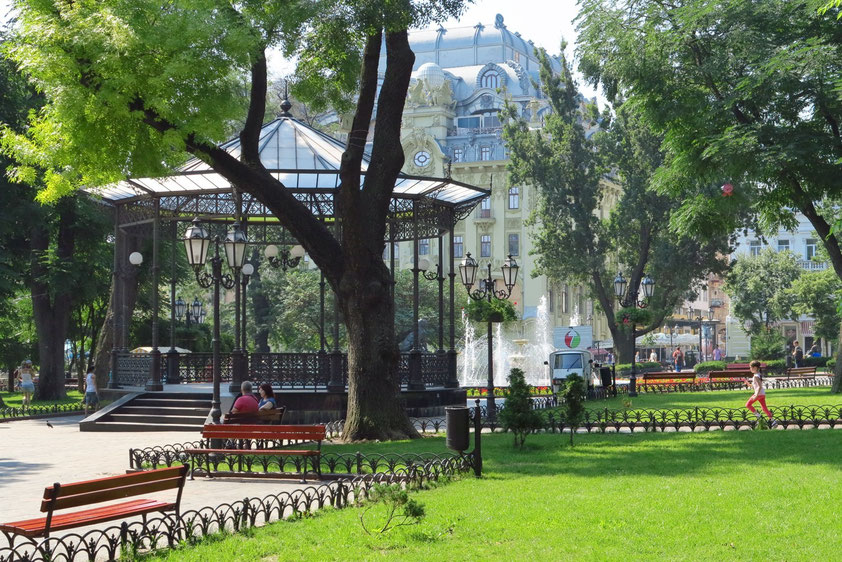 Im Stadtgarten von Odessa