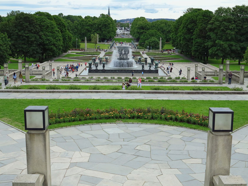 Vigelandsanlegget (Vigeland-Anlage), auch Vigeland-Skulpturenpark, im Frognerpark in Oslo
