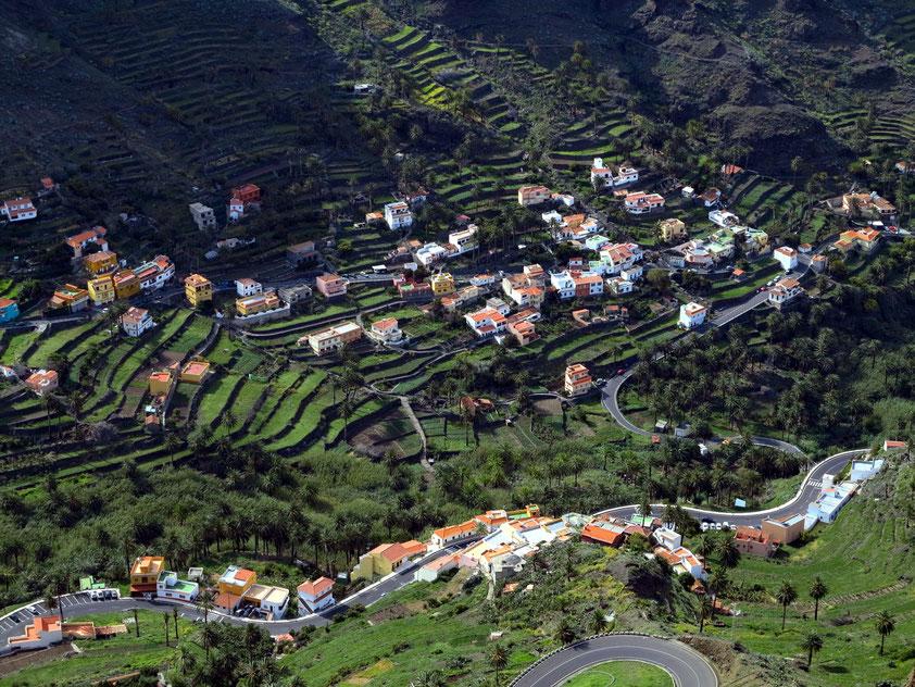 Blick vom Mirador César Manrique ins obere Valle Gran Rey