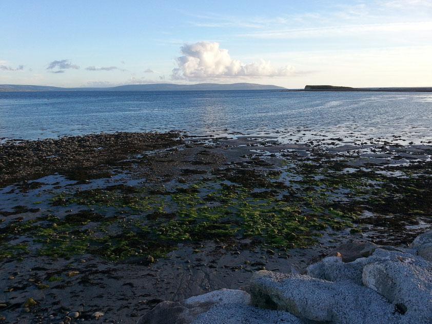 Küstenlandschaft von Galway in der Nähe des Salthill Caravan Parks