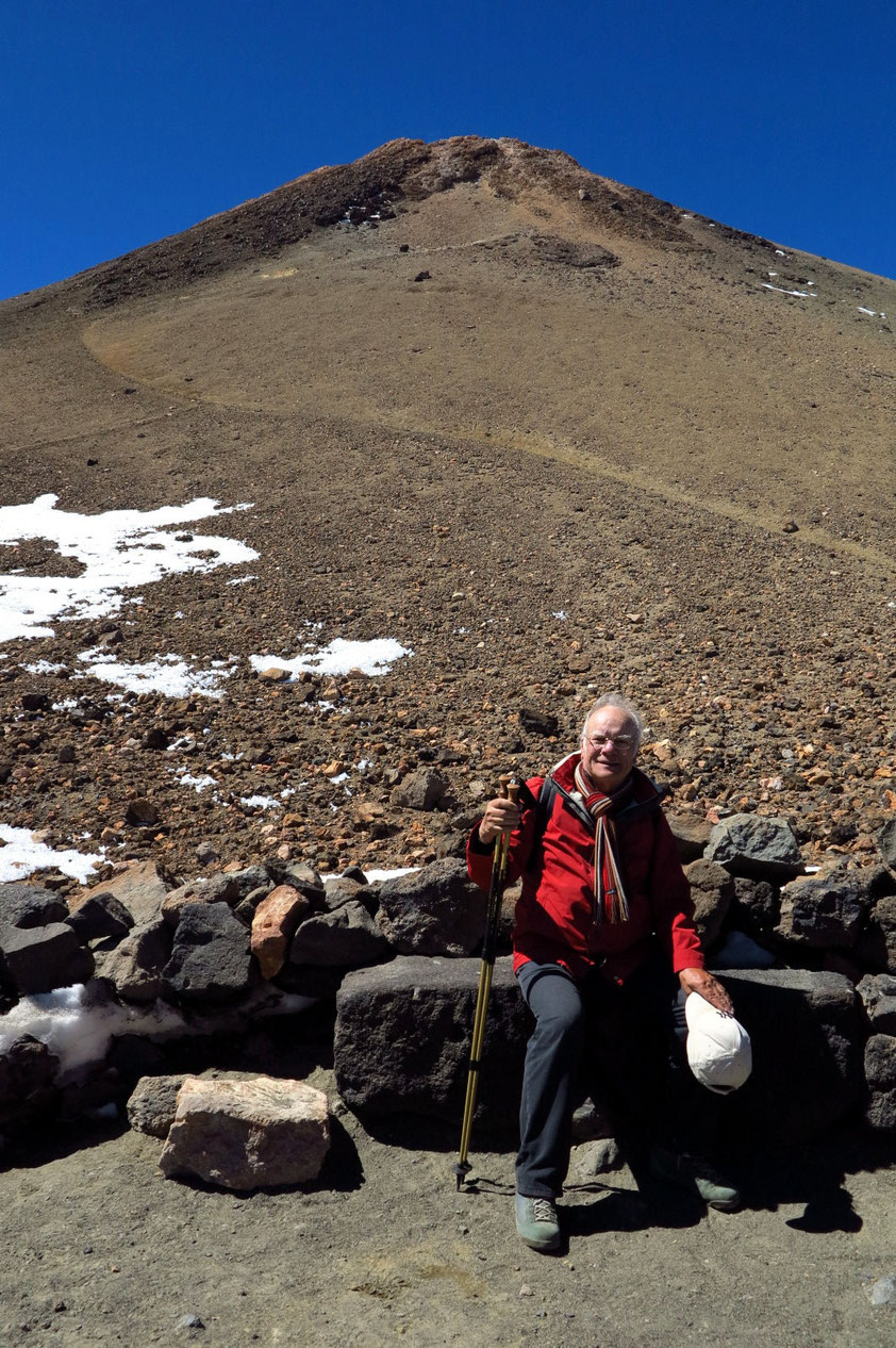 Auf dem Pico del Teide, in 3 550 m Höhe