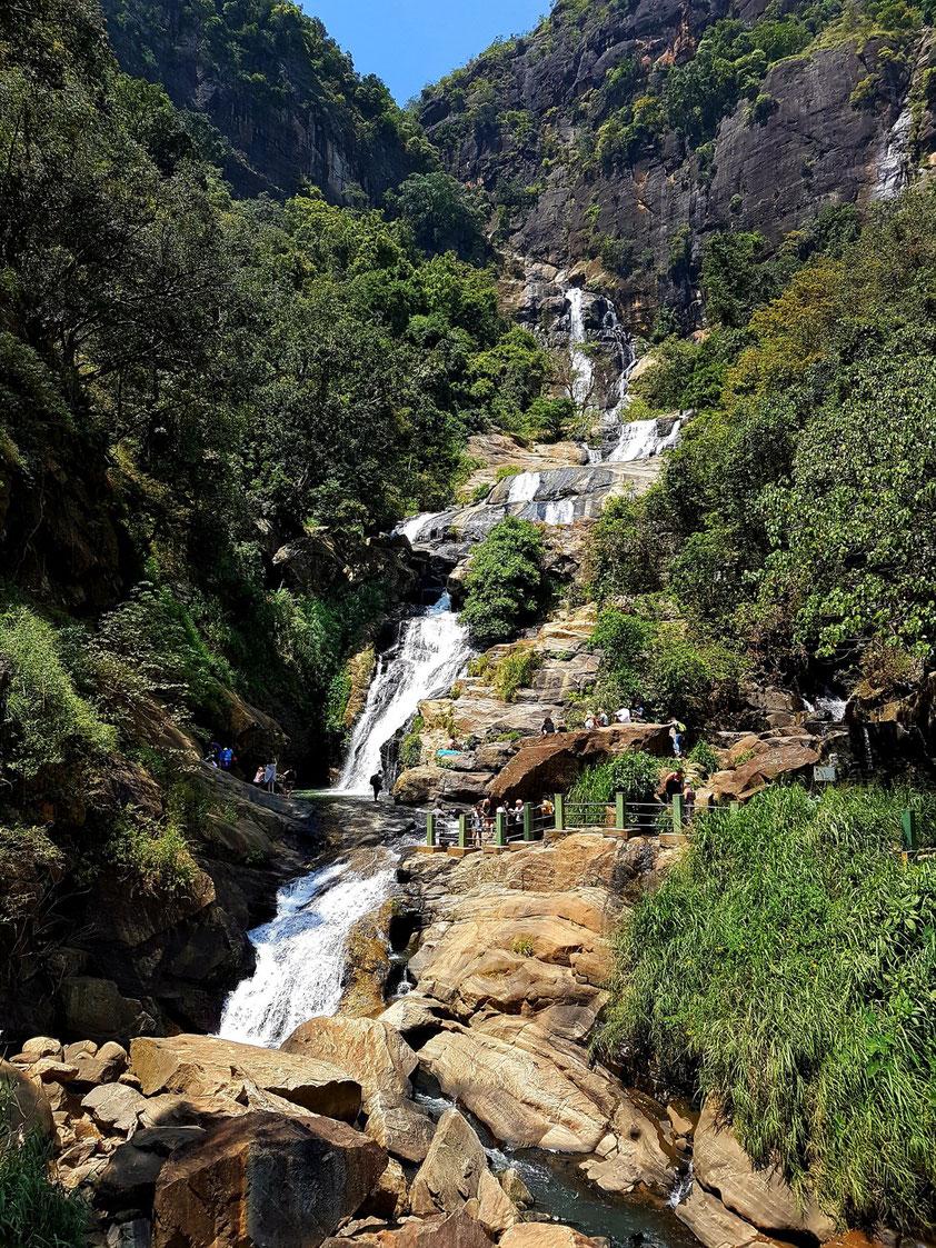 Die imposanten Ravana Wasserfälle südlich von Ella