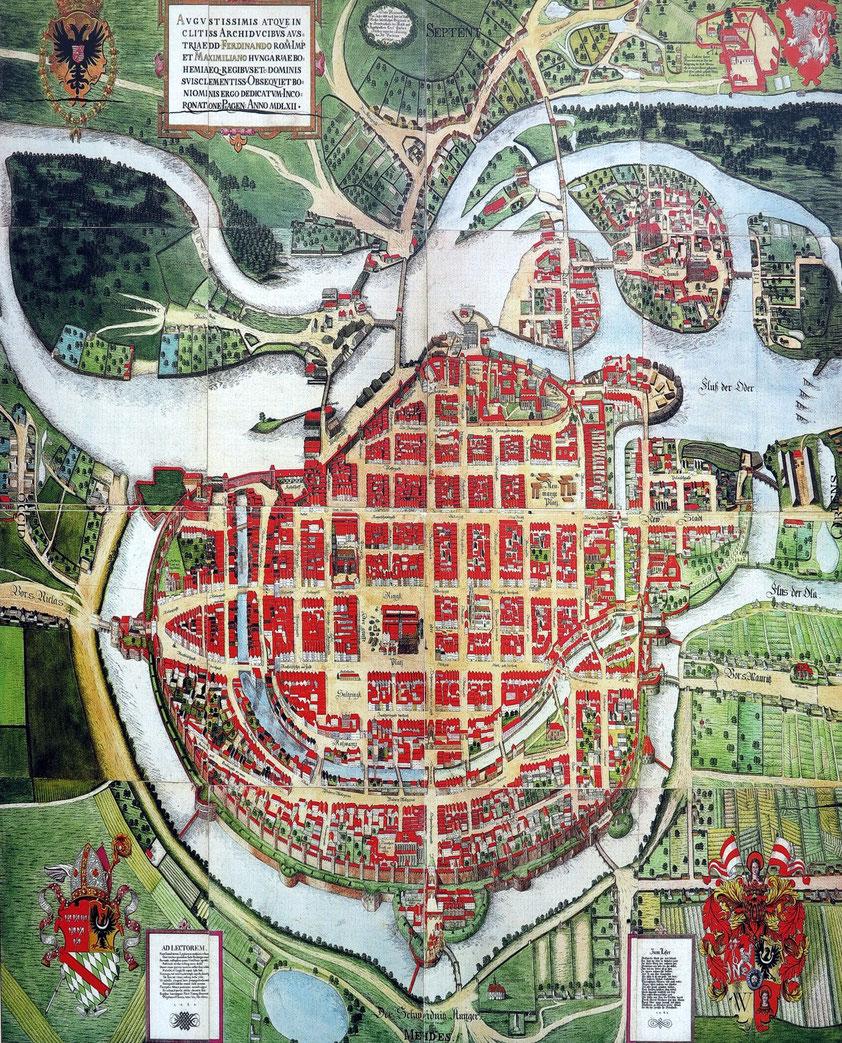 Breslau, Stadtplan aus dem Jahr 1562
