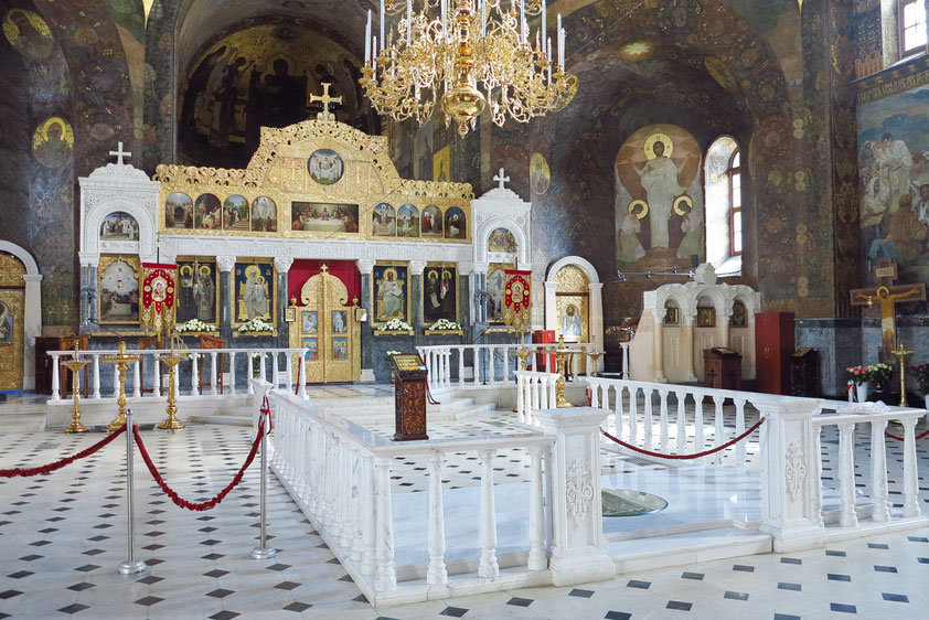 Ikonostase in der Refektoriumskirche