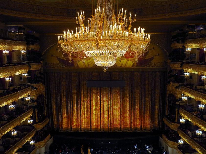 Bolshoi-Theater, Zuschauerraum mit 1800 Plätzen