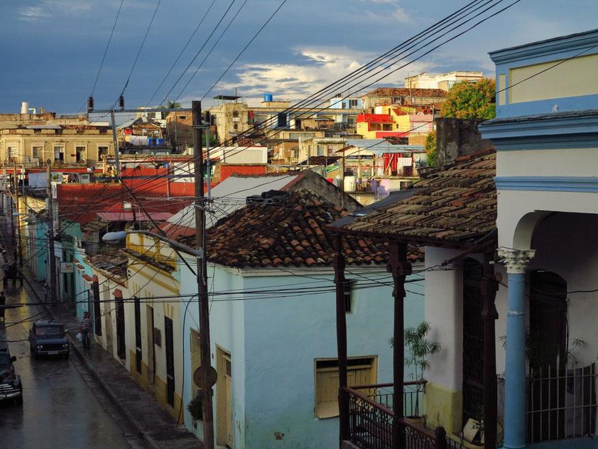 Santiago de Cuba, Blick von Padre Pico Steps nach Norden (Calle Hospital)