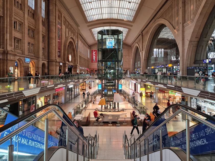 Promenaden im Leipziger Hauptbahnhof (Sonntag 12.9.2021)