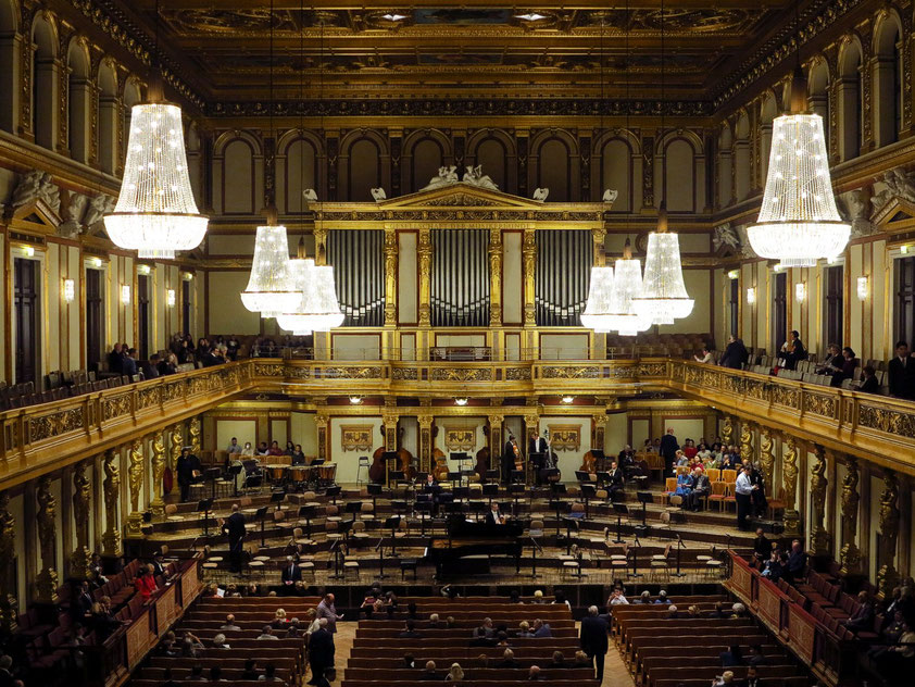 Großer Saal im Musikverein Wien, Blick von der Empore