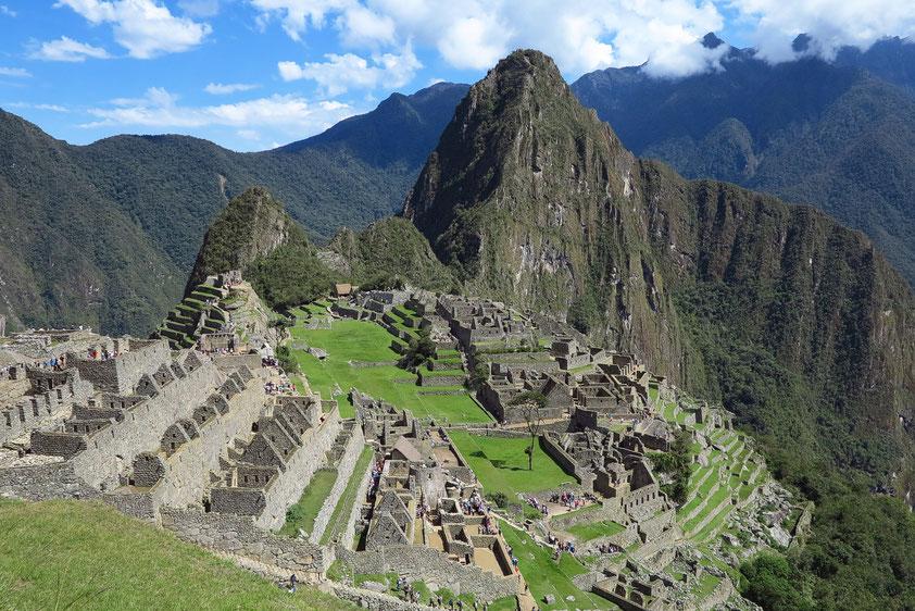 Machu Picchu in Peru, eine Stadt der späten Inka-Zeit