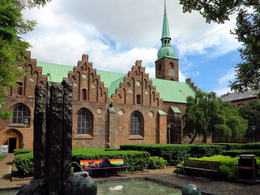 Frauenkirche, ursprünglich Sankt Nicolai Kirche, der erste Dom in Aarhus, um das Jahr 1080 erbaut