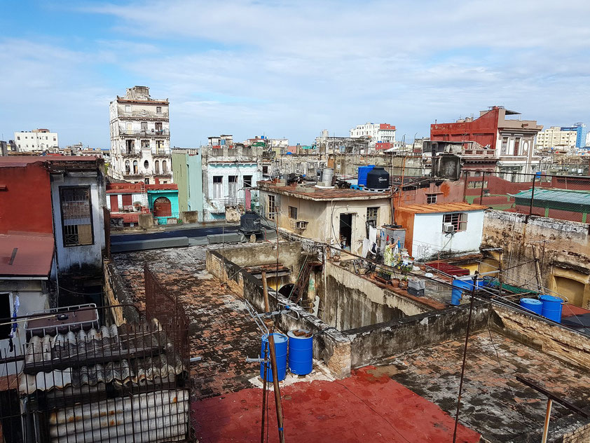 La Guarida, Blick von der Terrasse auf die Altstadt