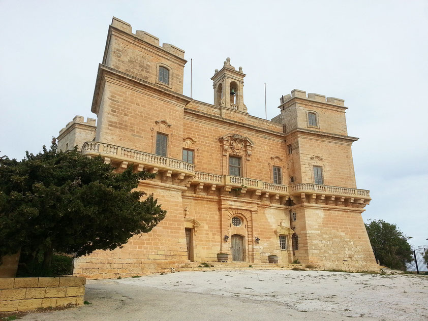 Selmun Palace, im 16. und 17. Jahrhundert erbaut, diente als Sommerresidenz der Adligen.