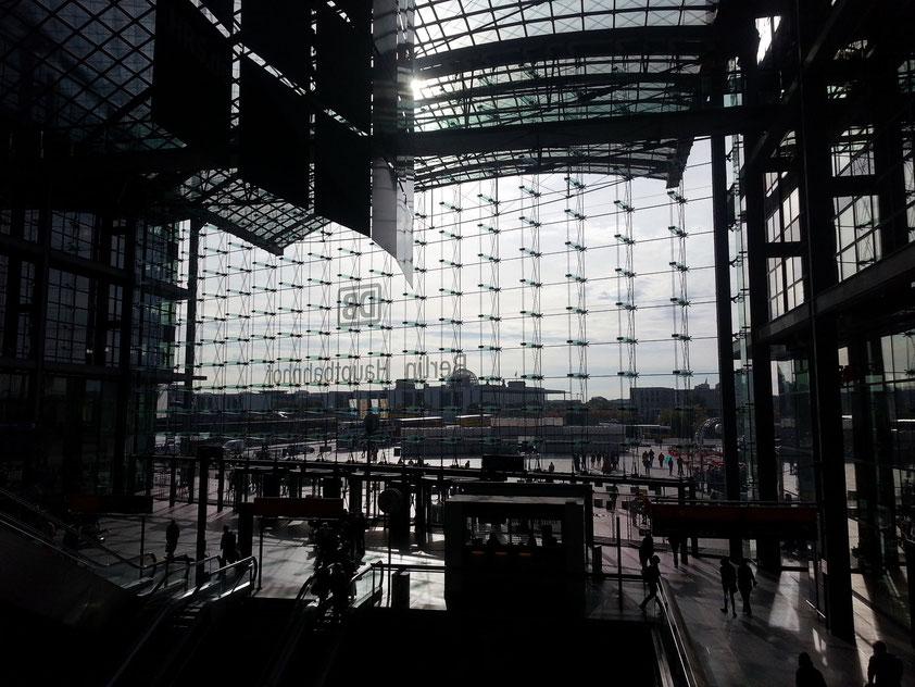 Berliner Hauptbahnhof, Aussicht nach Süden