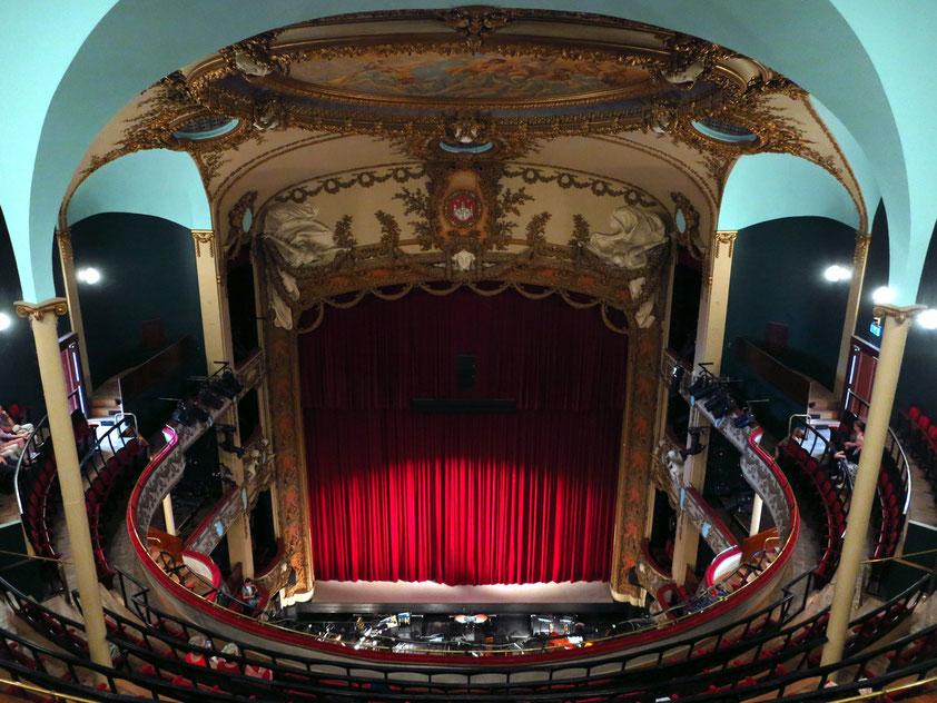 Opernhaus Antwerpen (1907 fertiggestellt), Blick vom oberen Rang