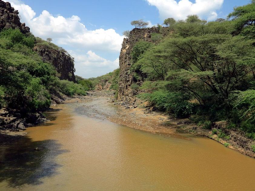 Fluss in einer Schlucht südlich von Marigat, der in den Baringosee mündet.