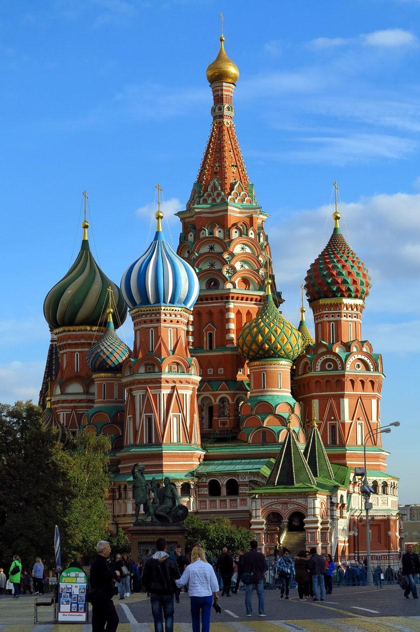 Basilius-Kathedrale, vom Roten Platz aus gesehen