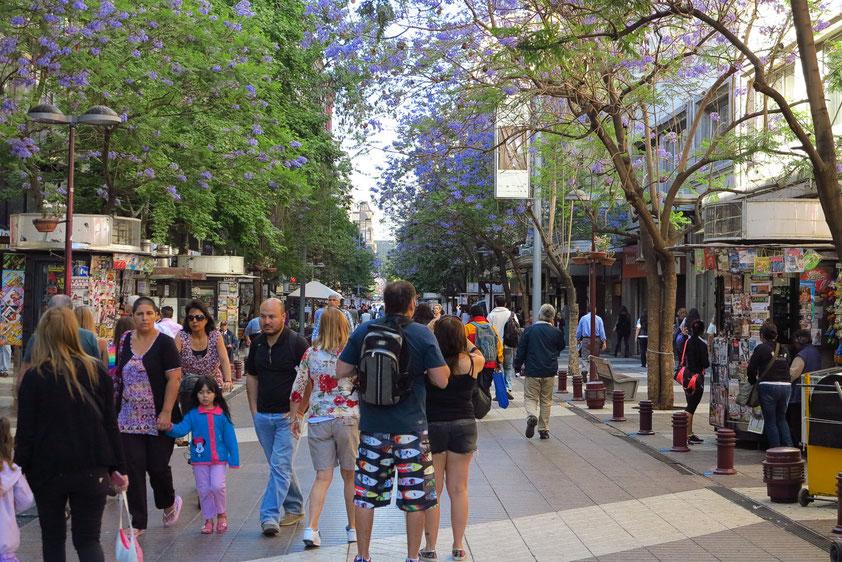 Fußgängerzone Estado in der Nähe des Hotels Libertador