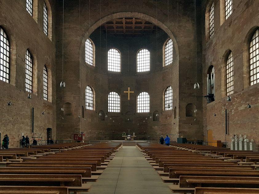 Trier. Evangelische Kirche zum Erlöser (Konstantinbasilika) als Audienzhalle der römischen Kaiser im 4. Jahrhundert erbaut