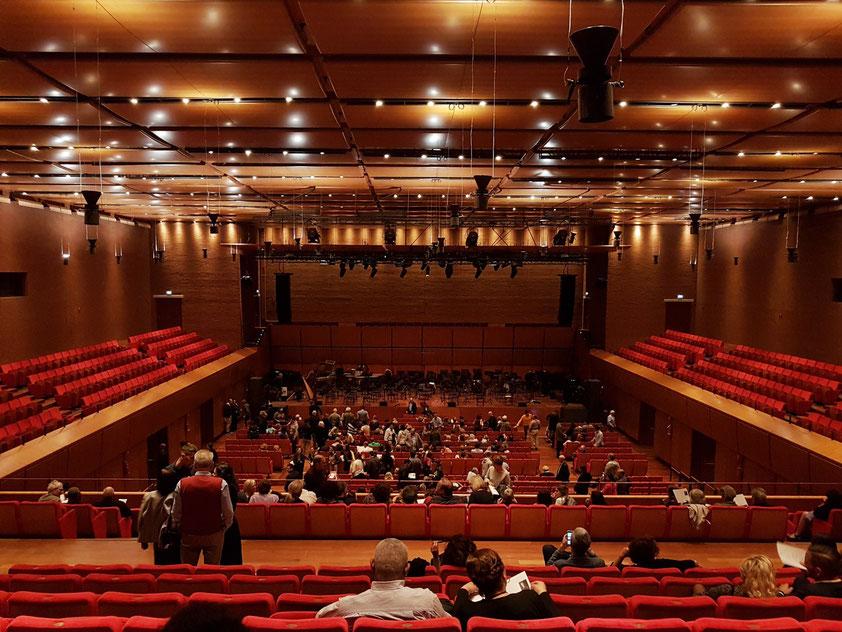 Sala Sinopoli (1133 Plätze), Blick zur Bühne