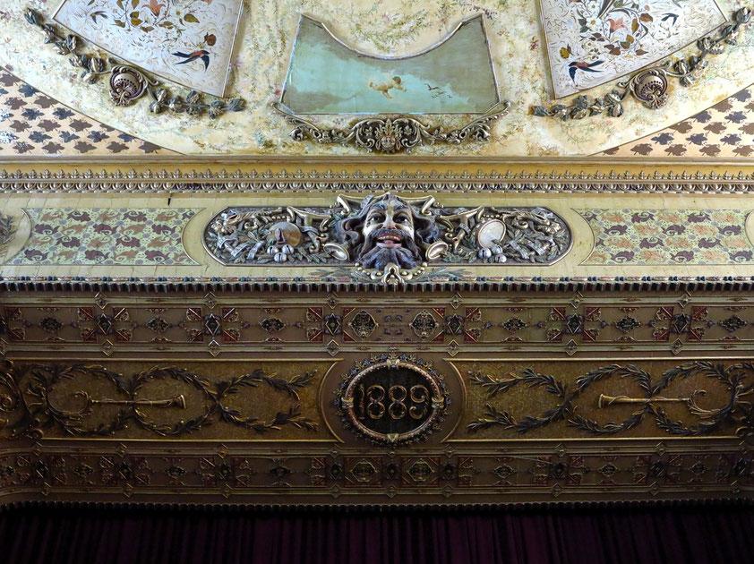 Cienfuegos. Teatro Tomás Terry, Detail der Decke