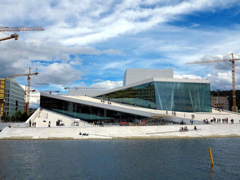 Oslo, neue Oper von 2008 am Hafen (Architekturbüro Snøhetta)